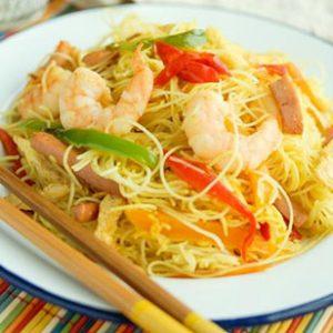Singapore-Noodle Stir-Fry