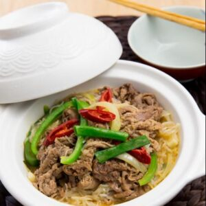 Satay beef with glass noodle